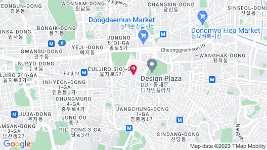 Western Co-op Hotel & Residence Dongdaemun Map
