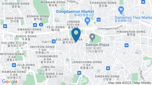 Novotel Ambassador Seoul Dongdaemun Hotels & Residences Map