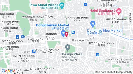 JW Marriott Dongdaemun Square Seoul Map