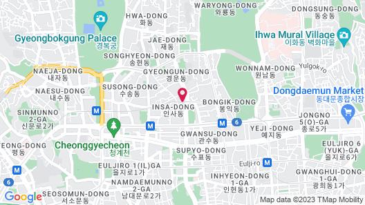 HOTEL KURETAKESO INSA-DONG SEOUL Map