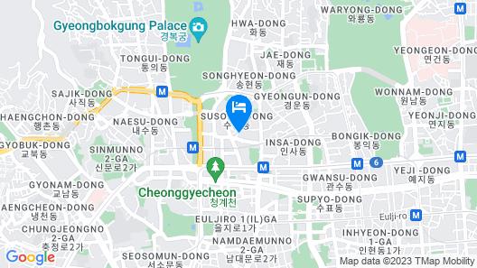 Shilla Stay Gwanghwamun Map