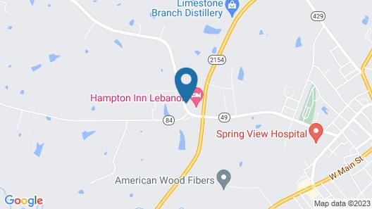 Hampton Inn Lebanon Map