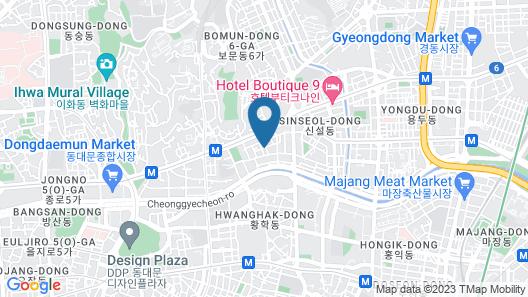 SEOUL N HOTEL Dongdaemun Map