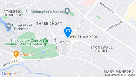 Westhampton Guest House Map