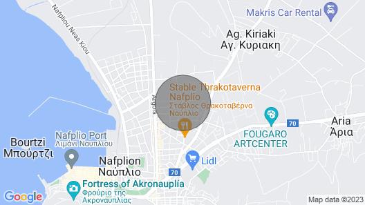 Green House Nafplio Greece Map