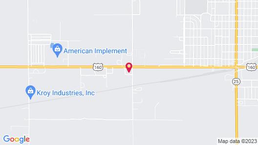 Hotel Ulysses KS West Map