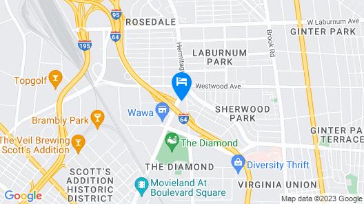 Rodeway Inn Central Map