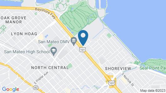 Holiday Inn Hotel & Suites San Mateo-San Francisco SFO, an IHG Hotel Map