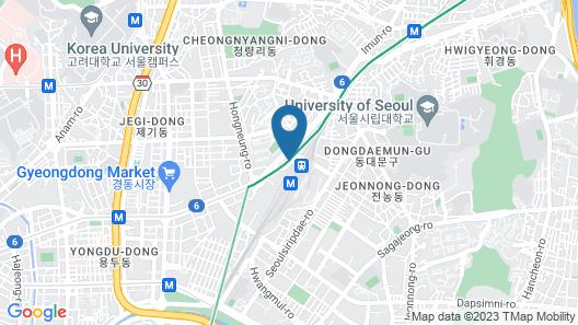 Hotel the Designers Cheongnyangni Map