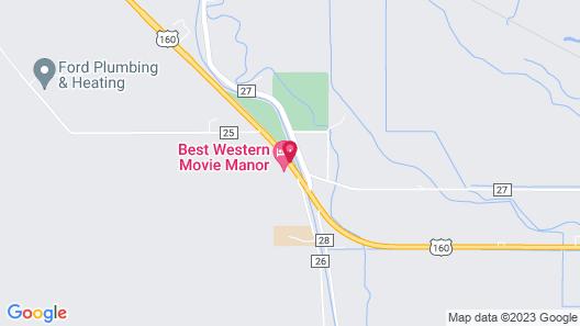 Best Western Movie Manor Map