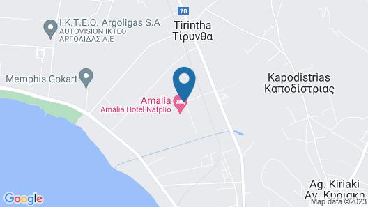 Amalia Hotel Nafplio Map