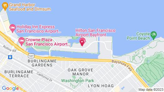 Hilton San Francisco Airport Bayfront Map