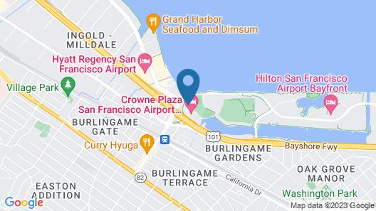 Crowne Plaza San Francisco Airport, an IHG Hotel Map