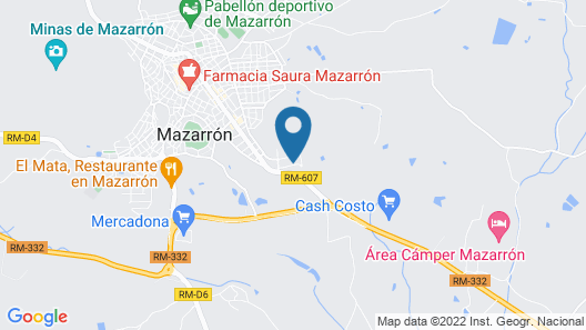 Gorgeous Villa in Mazarrón With Private Pool Map