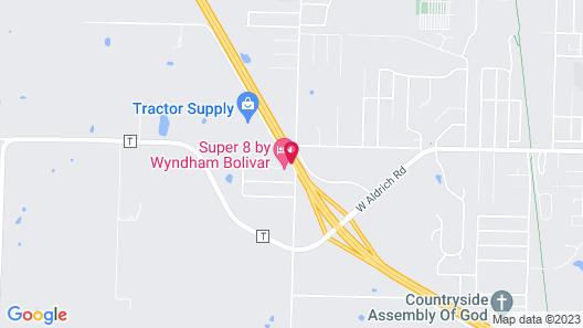 Super 8 by Wyndham Bolivar Map