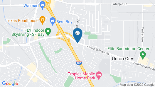 Crowne Plaza Silicon Valley N - Union City, an IHG Hotel Map