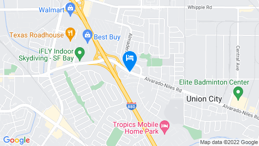 Crowne Plaza Silicon Valley N - Union City Map