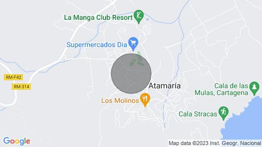 La Manga Club : 3 bedroom Los Olivos Garden Apartment Map
