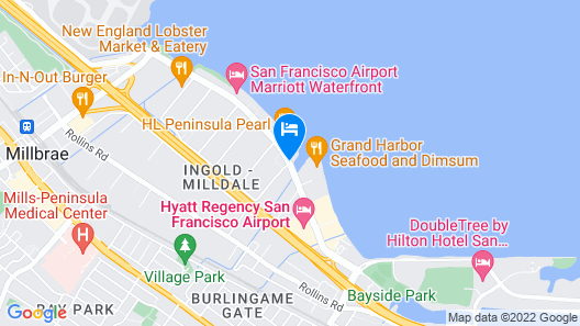 Bay Landing San Francisco Airport Hotel Map