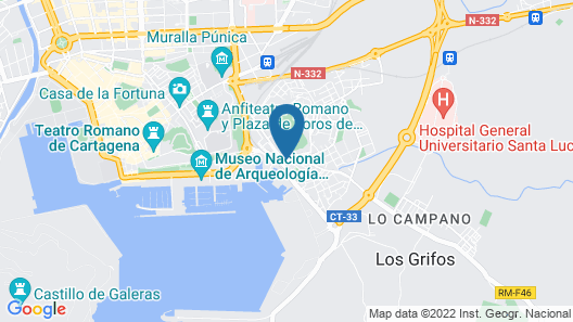 Apartment With 3 Bedrooms in Cartagena, With Wonderful sea View and Wifi Map