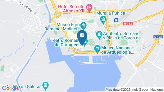 Apartamentos Teatro Romano Cartagena Map