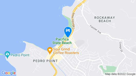 Pacifica Beach Hotel Map
