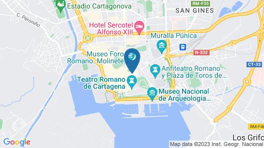 Apartamentos Distrito Romano Map