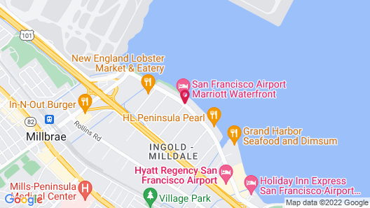 San Francisco Airport Marriott Waterfront Map