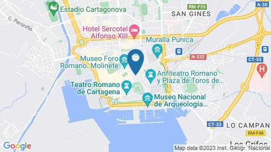 Apartamentos Duque Cartagena Map