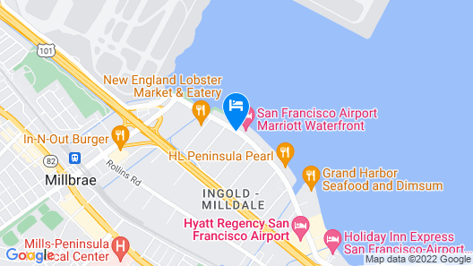 Hampton Inn & Suites San Francisco-Burlingame-Airport South Map