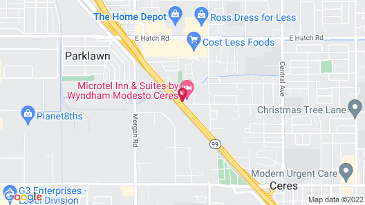 Microtel Inn & Suites by Wyndham Modesto Ceres Map