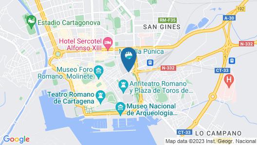 Hotel Los Habaneros Map