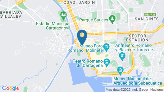 B&B Hotel Cartagena Cartagonova Map
