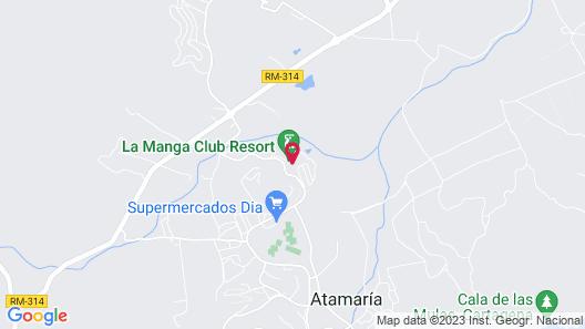 La Manga Club Hotel Príncipe Felipe Map