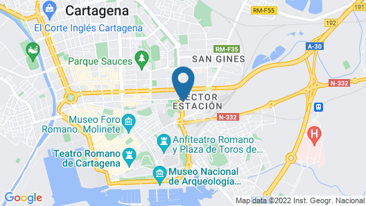 Apartment With 4 Bedrooms in Cartagena, With Wifi - 4 km From the Beach Map
