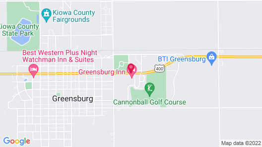 Greensburg Inn Map