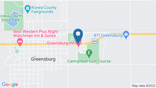 Greensburg Inn Map
