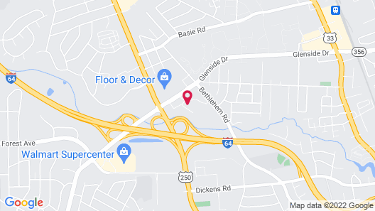 Extended Stay America - Richmond - W Broad St-Glenside-North Map