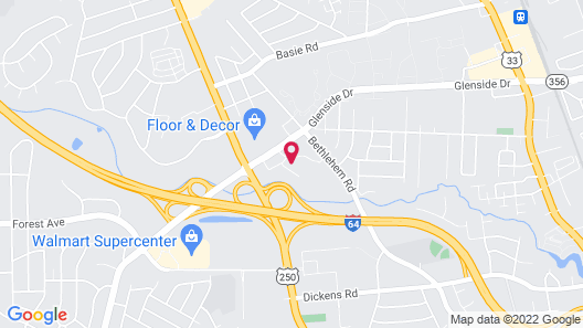 Extended Stay America Suites Richmond W Broad St Glenside S Map