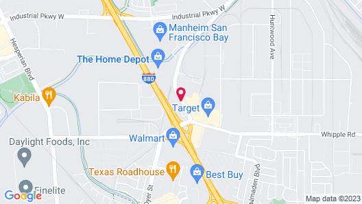 Motel 6 Hayward, CA - East Bay Map