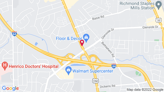 Best Western Executive Hotel Map