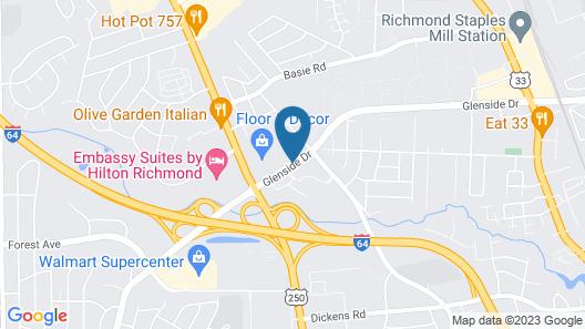 Hampton Inn and Suites Richmond/Glenside Map