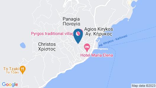 Pyrgos Ikaria Traditional Village Map