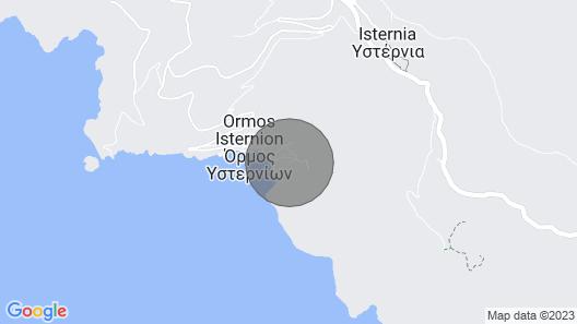 Endless Blue - Isternia bay - Ormos Isternion Tinos - Cyclades - Greece Map