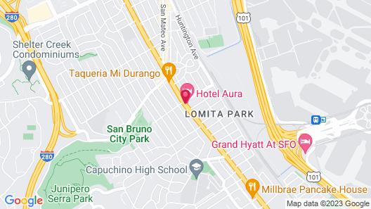 Hotel Aura SFO Map