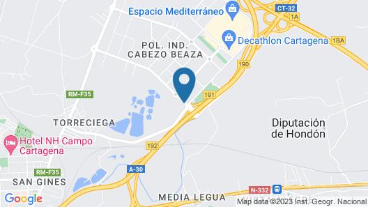 Posadas de España Cartagena Map