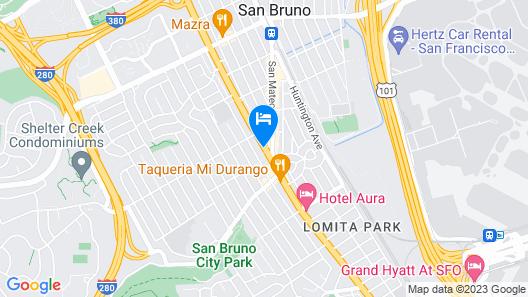 Super 8 by Wyndham San Bruno /SF Intl Arpt West Map