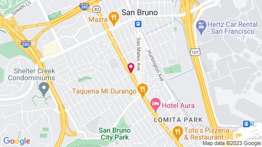 Ramada by Wyndham San Bruno SFO Airport Map