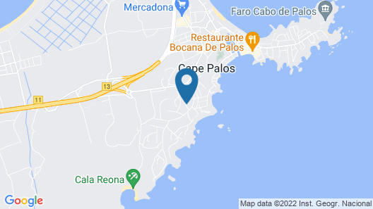 House With 4 Bedrooms in Cabo de Palos, With Wifi Map