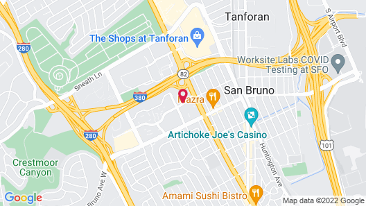 Courtyard by Marriott San Francisco Airport Map